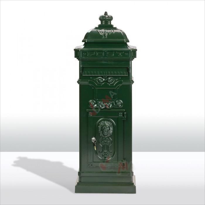 Boîte aux lettres pilier nostalgie vert sapin RAL 6009