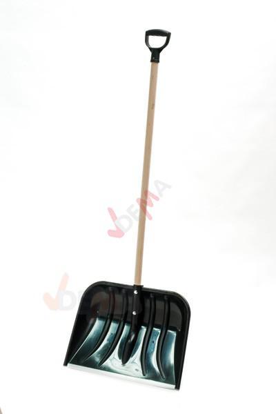 Pelle à neige avec manche en bois d'une largeur de 55 cm