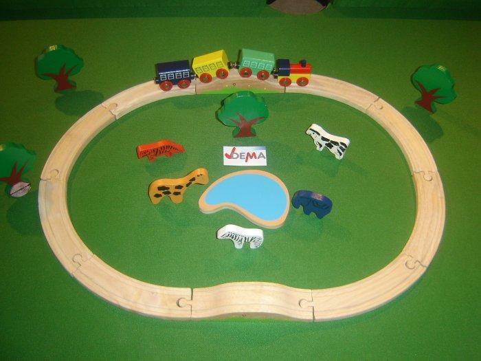 Petit train en bois Africa - 24 pièces