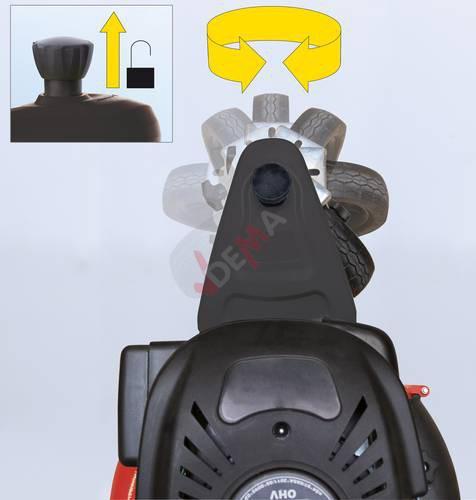 Tondeuse thermique autotractée trike 465 D Big Wheeler