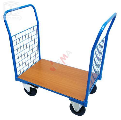 Chariot de transport manutention avec panneau de sol en bois