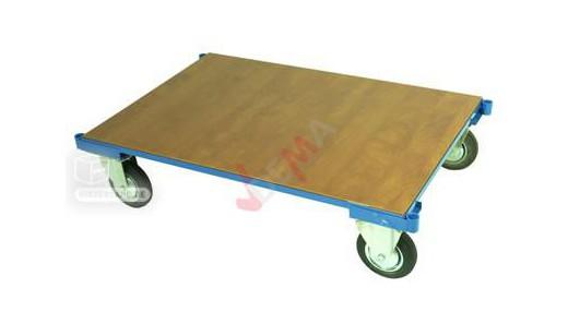 Chariot de transport plate forme manutention sans poignée