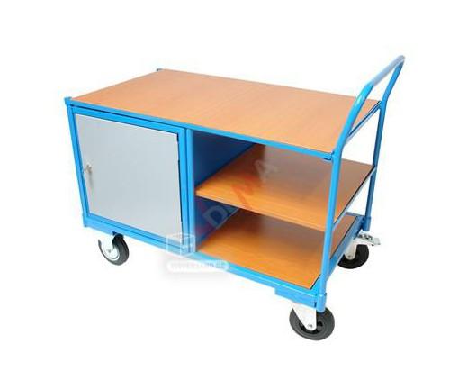 Chariot de transport manutention avec table de travail
