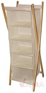 Étagère à linge en textile avec 5 compartiments