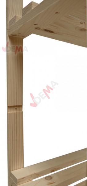 Étagère en bois de pin non traité