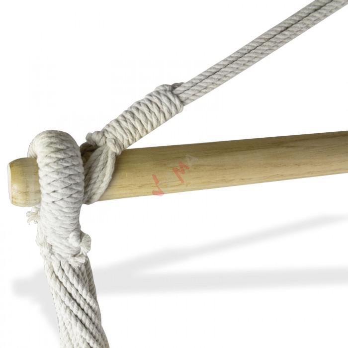 """Hamac """"CHILL"""" - Siège 160 x 125 cm - bois Ø 38 mm - 140 kg"""