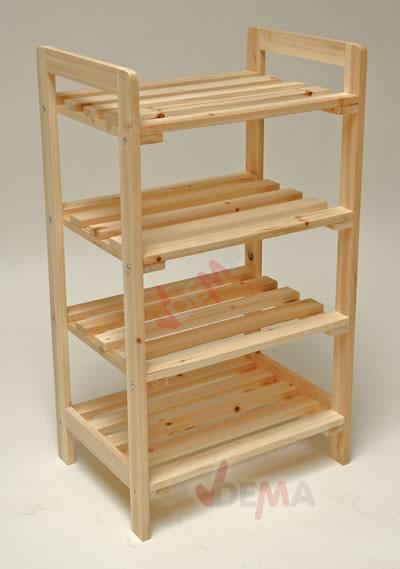 Tag re en bois de pin non trait rangement for Etagere en palette en bois