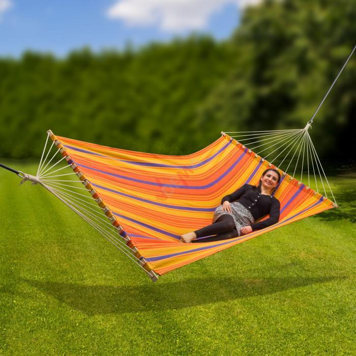 """Hamac en lin """"COLOUR"""" 200 kg surface de couche 2100 x 1450 mm jardin"""