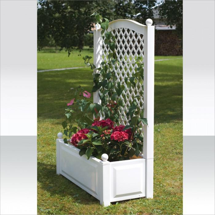bac fleurs en plastique avec structure pour plantes. Black Bedroom Furniture Sets. Home Design Ideas