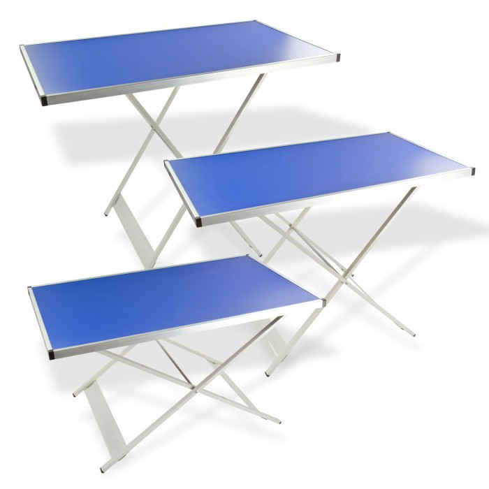 Tables pliantes r glables en hauteur lot de 3 rangement Table d appoint reglable en hauteur