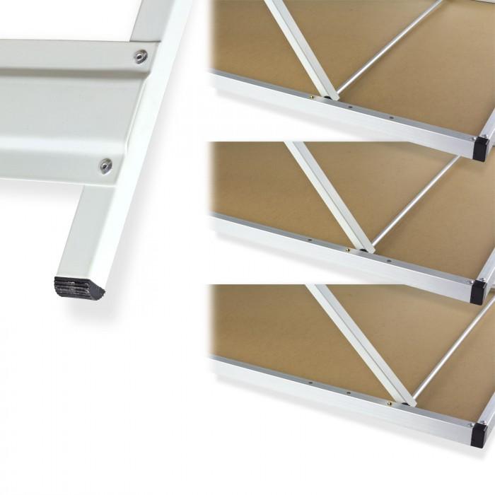 Tables pliantes réglables en hauteur - Lot de 3