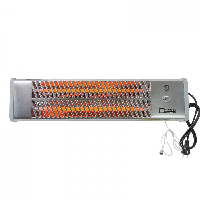 Chauffage radiant / rayonnant à quartz 1200 watt - Radiateur