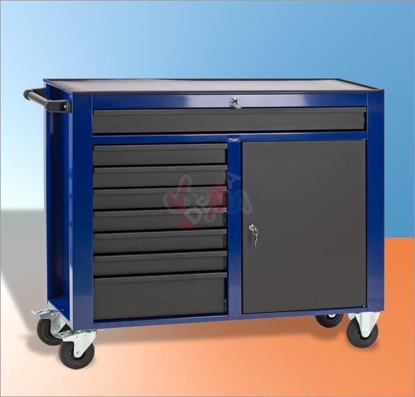 servante d 39 atelier dw8st bleu noir mobilier d 39 atelier. Black Bedroom Furniture Sets. Home Design Ideas