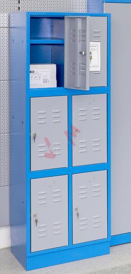 Vestiaire casier métallique 6 compartiments de type 6F