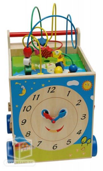 Multijeux cube en bois enfant - 5 plateformes d'éveil de jeux