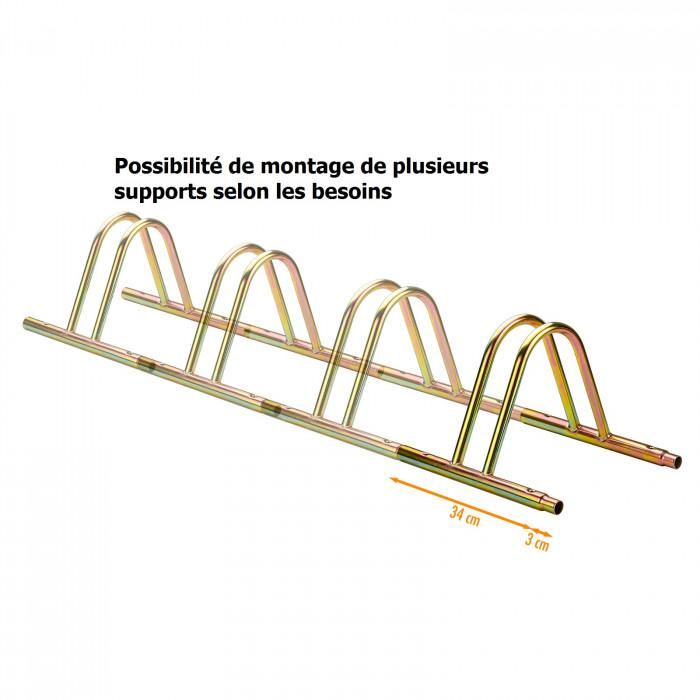 Parking 1 vélo Support vélo modulable et emboîtable roues larg 50 mm