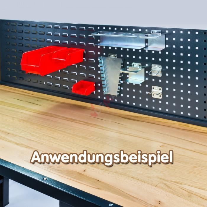 Etabli 5 tiroirs + pannneau mural 170x72x135 cm