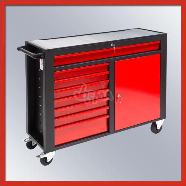 servante d atelier dw8st noir rouge mobilier d 39 atelier. Black Bedroom Furniture Sets. Home Design Ideas