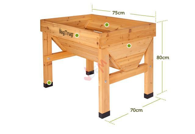 Potager en bois sur pieds MINI VEG TRUG  75 CM