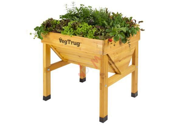 potager en bois sur pieds mini veg trug 75 cm jardin entretien. Black Bedroom Furniture Sets. Home Design Ideas