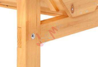 Potager en bois sur pieds DOUBLE VEG TRUG  180 CM
