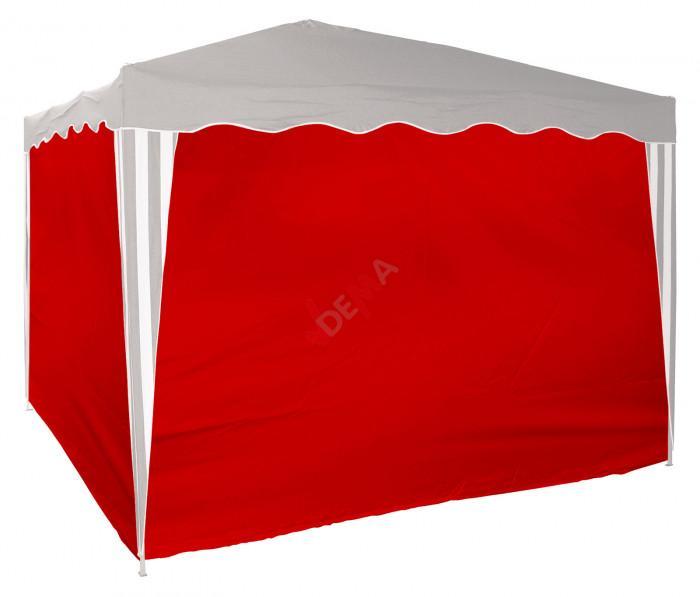 Set de bâches d´habillage pour tonnelle / pavillon rouge D14213