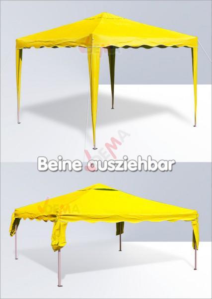 tonnelle pliante pavillon pliable 3x3 m couleur jaune plein air camping. Black Bedroom Furniture Sets. Home Design Ideas