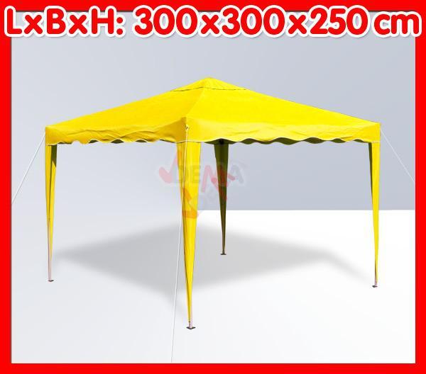 Tonnelle pliante / pavillon pliable 3x3 m   Couleur jaune*