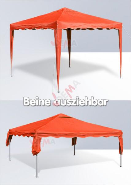 Tonnelle pliante / pavillon pliable 3x3 m   Couleur terracotta*