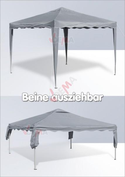 tonnelle pliante pavillon pliable 3x3 m couleur grise plein air camping. Black Bedroom Furniture Sets. Home Design Ideas