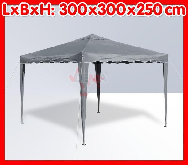 Tonnelle pliante / pavillon pliable 3x3 m - Couleur Grise*