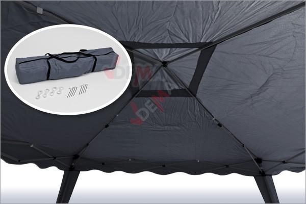 tonnelle pliante pavillon pliable 3x3 m couleur anthracite plein air camping. Black Bedroom Furniture Sets. Home Design Ideas