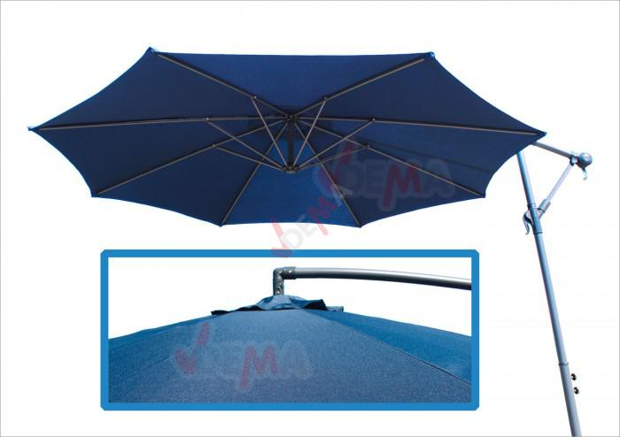 Parasol déporté rond de Ø 3 m de couleur bleu foncé