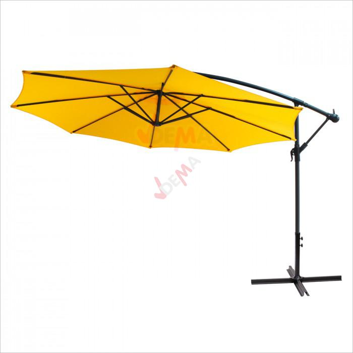 Parasol déporté rond de Ø 3 m de couleur jaune D41158 | eBay