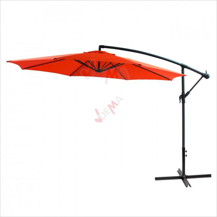 parasol d port rond de 3 5 m de couleur orange plein. Black Bedroom Furniture Sets. Home Design Ideas
