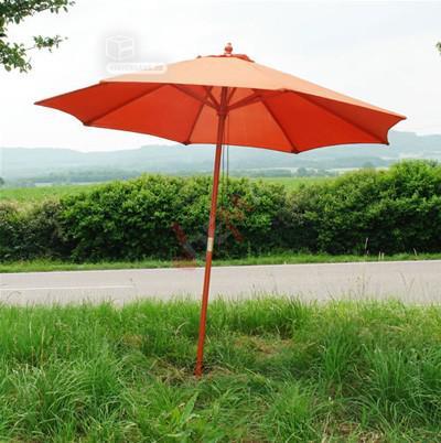 Parasol en bois - orange d´une envergure de 2,70 m