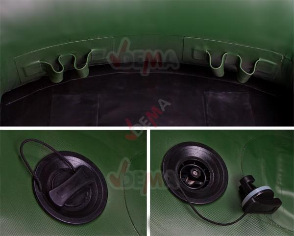 Bâteau gonflable fix kraft 1 personnes modèle SB 180 vert