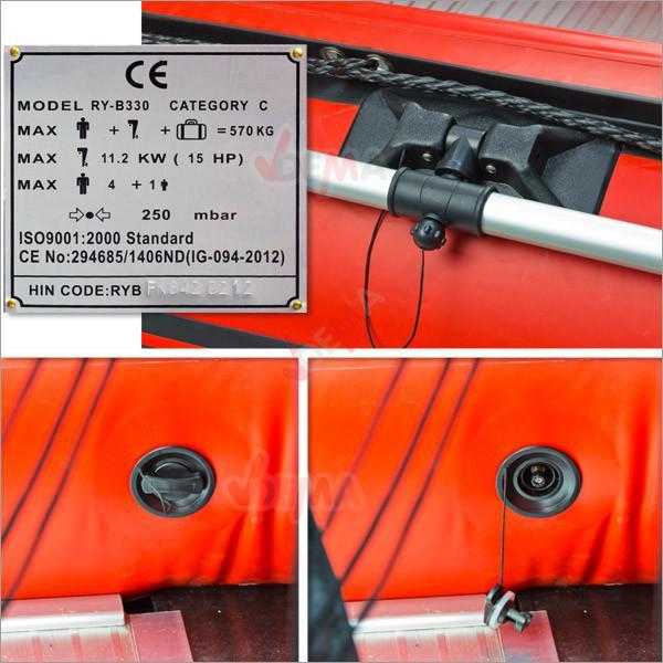 Bâteau gonflable fix kraft plancher aluminium modèle FK 330