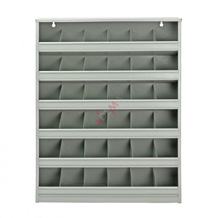 Panneau mural de rangement avec 36 compartiments de couleur grise mobilier - Panneau de rangement ...