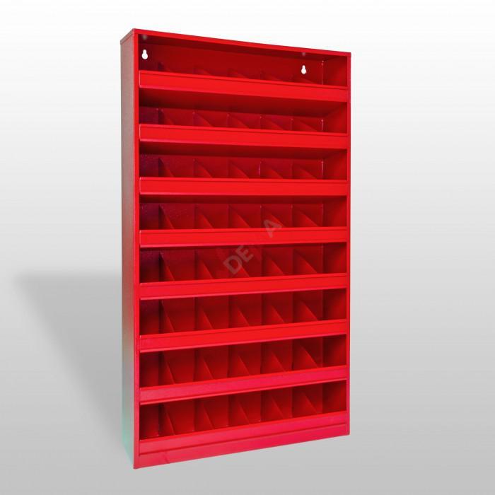 panneau mural de rangement 48 compartiments de couleur rouge ral 3020 mobilier d 39 atelier. Black Bedroom Furniture Sets. Home Design Ideas