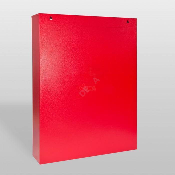 Panneau mural de rangement avec 36 compartiments de couleur rouge