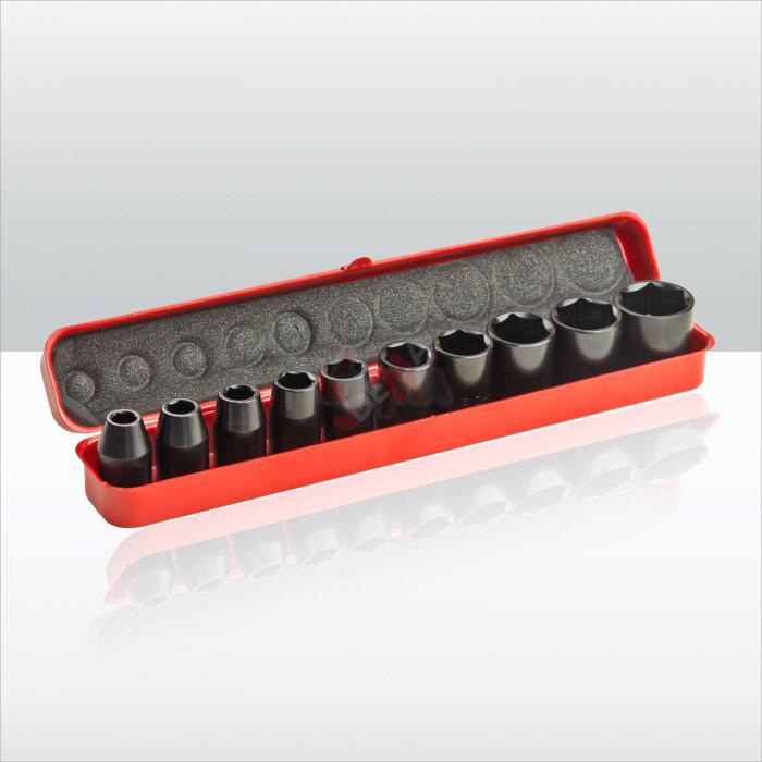 Douilles pour clé à choc ½ ´´ 9-27 mm - 10 pièces