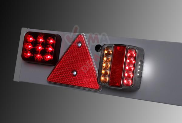 Rampe de signalisation PVC pour remorque LED 12 V