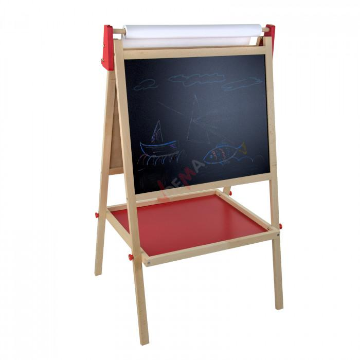 tableau chevalet enfant avec d vidoir papier jouets en bois. Black Bedroom Furniture Sets. Home Design Ideas
