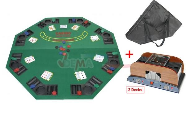tapis poker 8 joueurs m langeur cartes sac de. Black Bedroom Furniture Sets. Home Design Ideas