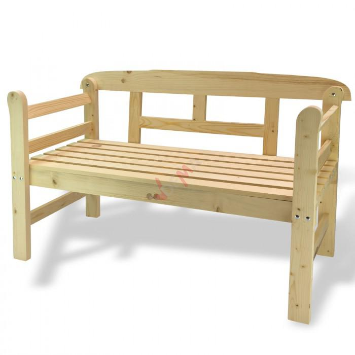 """Banc en bois de pin """"Emden"""" En kit à monter"""