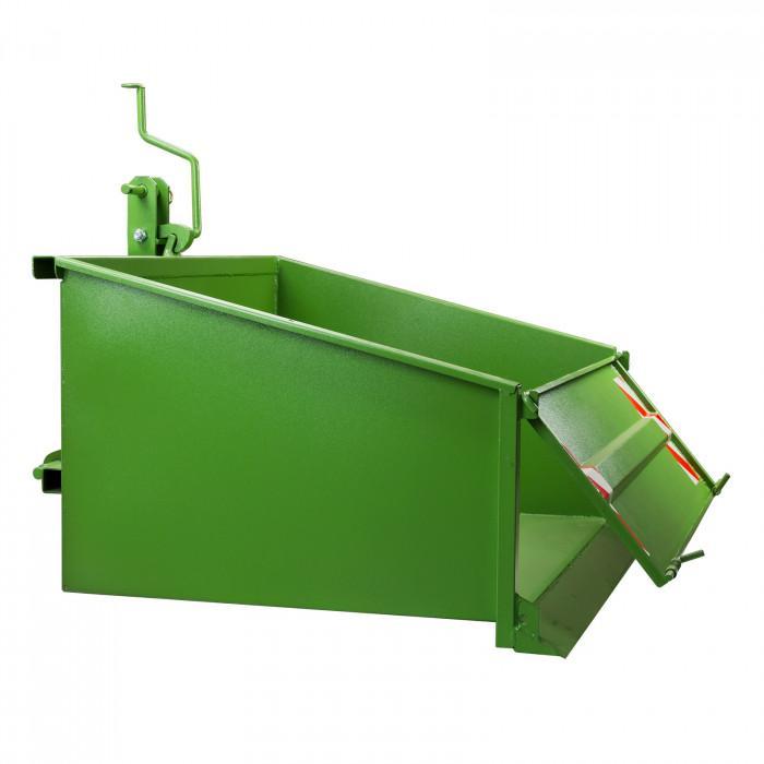 Benne 3 points pour tracteur agricole avec dispositif de bascule