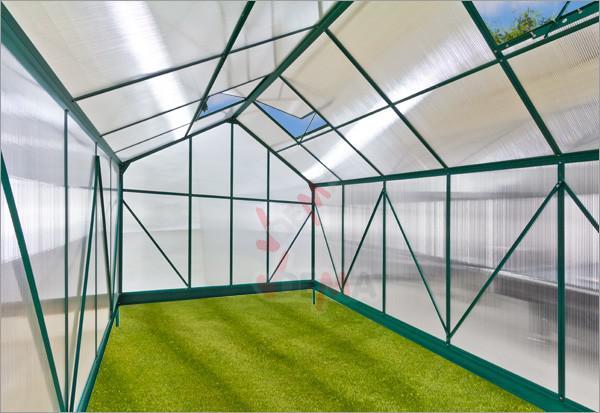 Serre de jardin en Alu ``Amsterdam´´ 10 m²