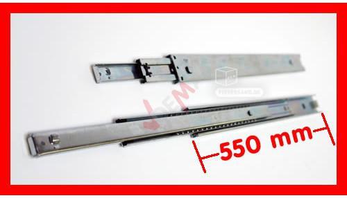 Rails glissière télescopique 2 pièces pour tiroir 550 mm