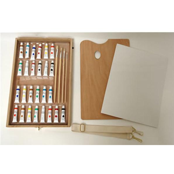 Chevalet de peinture avec accessoires - peintures et toile